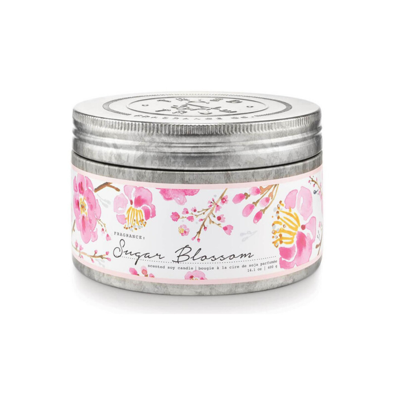 Burn time: 30 hours<br /> Dimensions: 4.75 x 4.75 x 3<br /> 3 Wick candle
