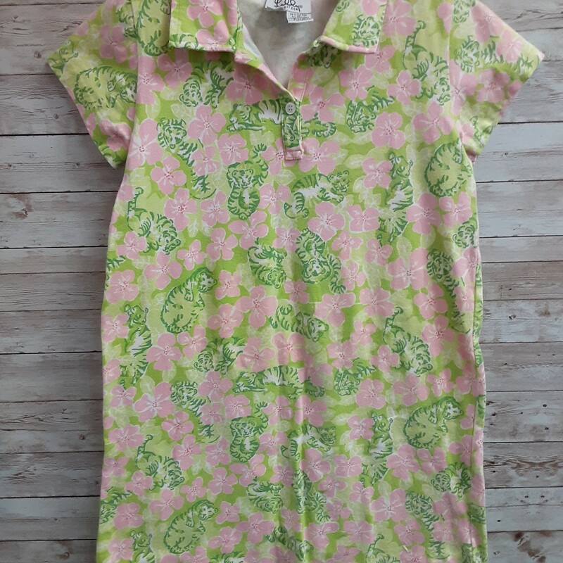 Lilly Pulitzer Dress Tige, Lime, Size: 10 Girls