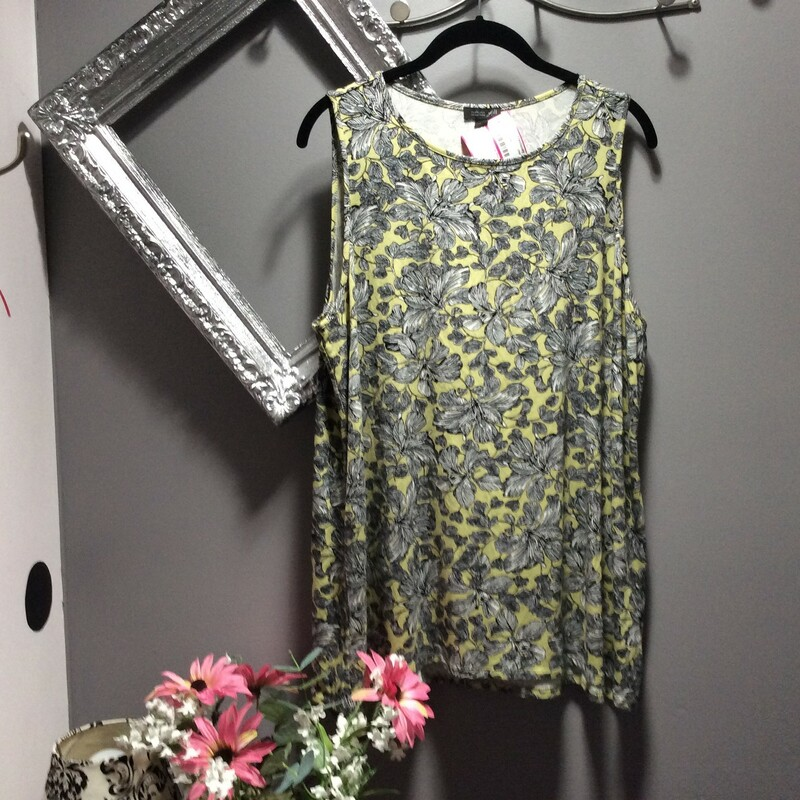 J Jill Tunic, Lime & black, Size: Fits Xlg