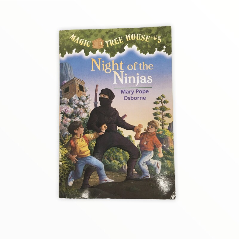 Magic Tree House #5, Book: Night of the Ninjas<br /> <br /> #resalerocks #books  #pipsqueakresale #vancouverwa #portland #reusereducerecycle #fashiononabudget #chooseused #consignment #savemoney #shoplocal #weship #keepusopen #shoplocalonline #resale #resaleboutique #mommyandme #minime #fashion #reseller                                                                                                                                      Cross posted, items are located at #PipsqueakResaleBoutique, payments accepted: cash, paypal & credit cards. Any flaws will be described in the comments. More pictures available with link above. Local pick up available at the #VancouverMall, tax will be added (not included in price), shipping available (not included in price), item can be placed on hold with communication, message with any questions. Join Pipsqueak Resale - Online to see all the new items! Follow us on IG @pipsqueakresale & Thanks for looking! Due to the nature of consignment, any known flaws will be described; ALL SHIPPED SALES ARE FINAL. All items are currently located inside Pipsqueak Resale Boutique as a store front items purchased on location before items are prepared for shipment will be refunded.