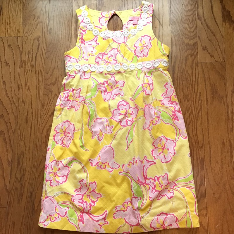 Lilly Pulitzer Dress, Yellow, Size: 14