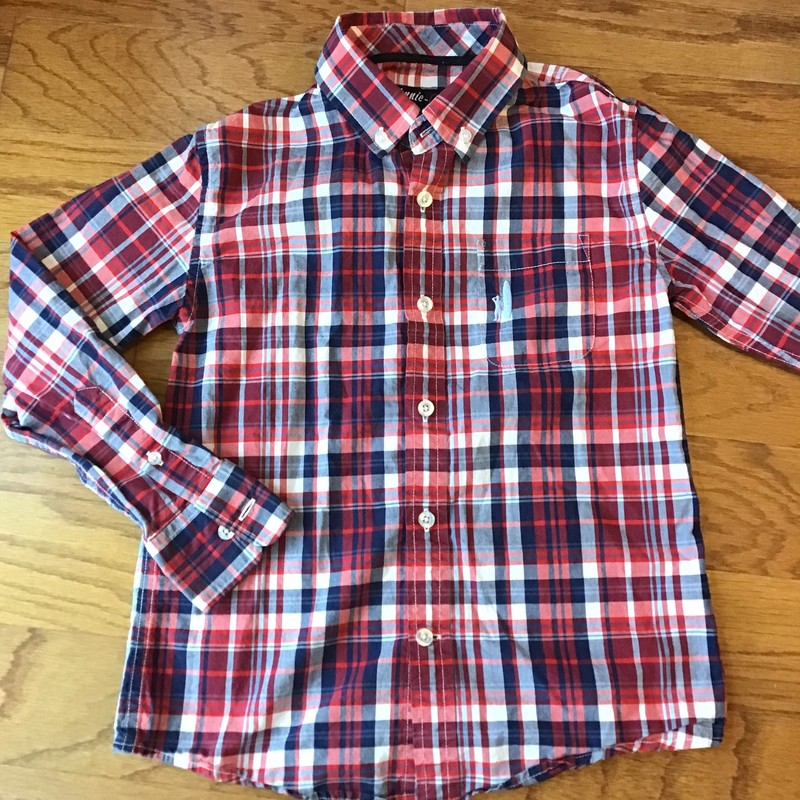 Johnnie O Shirt, Red, Size: 8