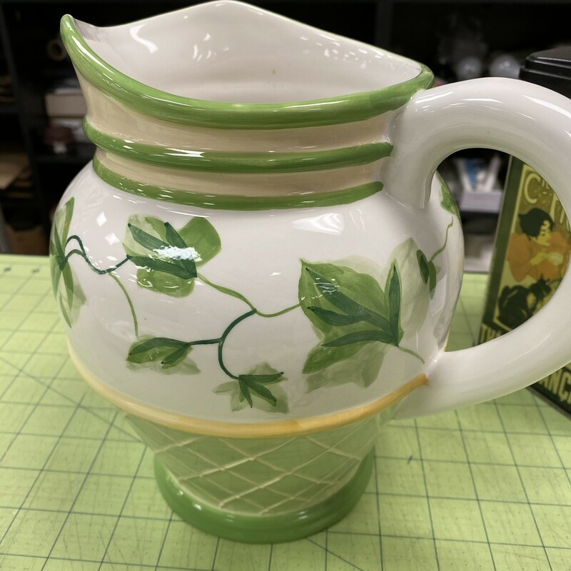 Waverly Gazebo Pitcher, Grn/Wht, Size: 8x9 Inch