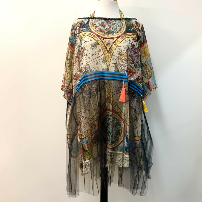 IPNG Tulle Tunic<br /> World rint with gorgeous crystal, paint and tassel embellishments!<br /> One Size, Fits a Large/XL best!