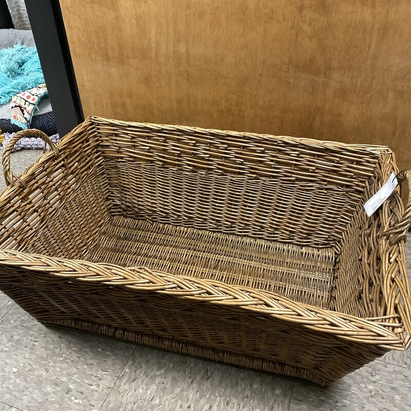French Baguette Basket, Beige, Size: 30x20x10