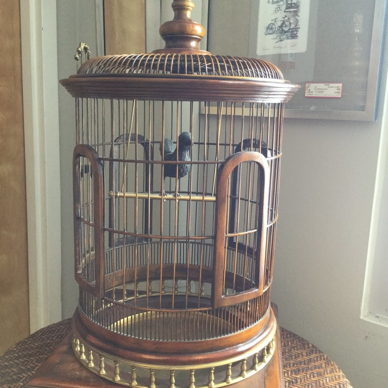 Bird Cage, Wood, Size: 37""
