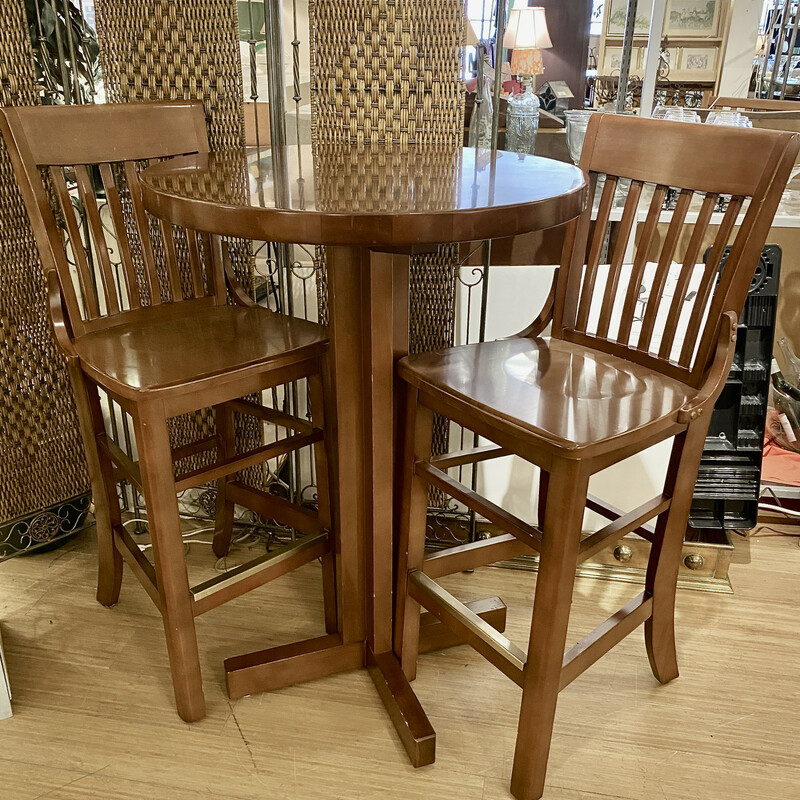 Bistro/Pub Table with 2 Chairs