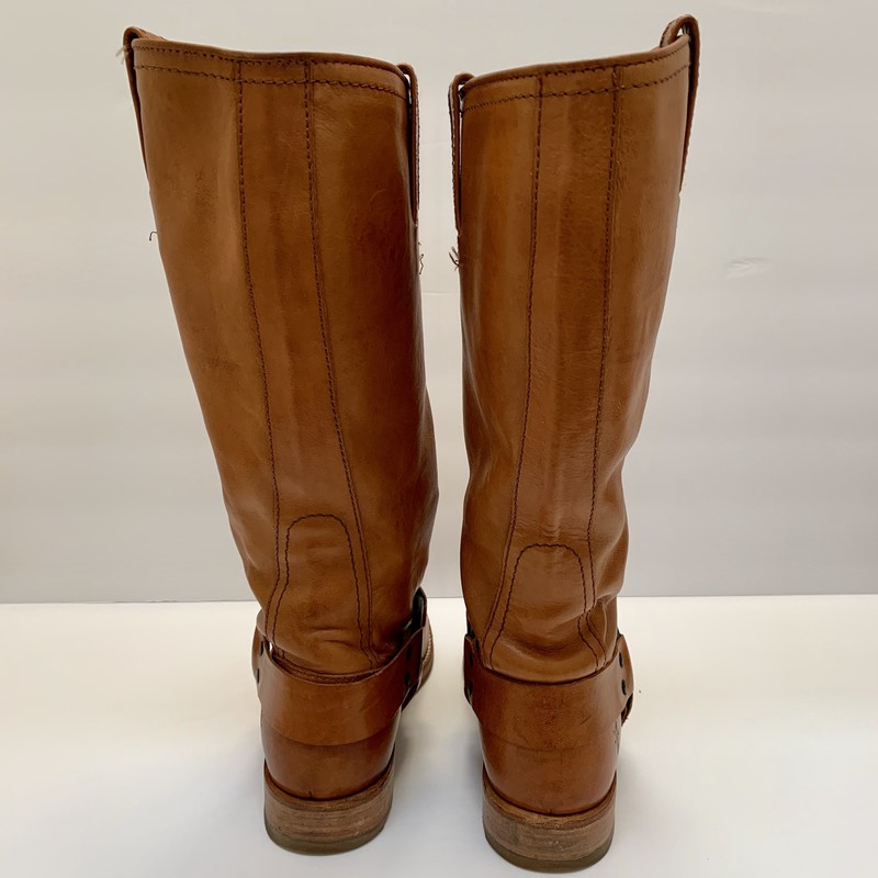 Frye Harness Tall Boots, Tan, Size: 6.5