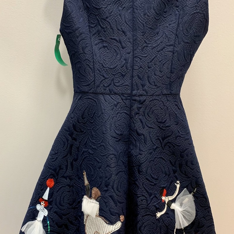 AOFULI Circus Dress, Navy, Size: Medium