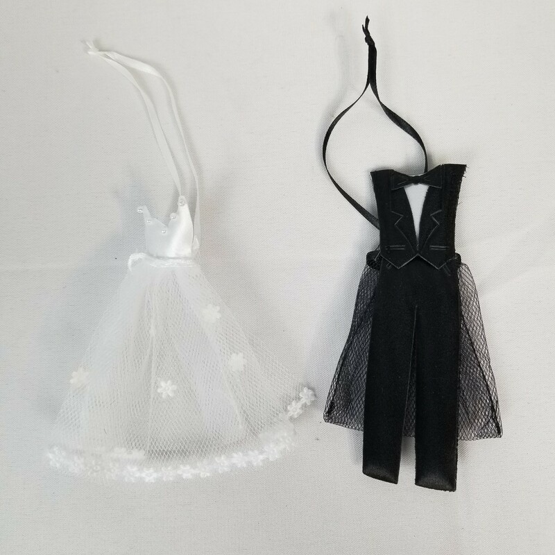 "Bride & Groom Favor Bags, Black/White, Size: 27 Ct<br /> <br /> Bag size: 2.5""x3\"""