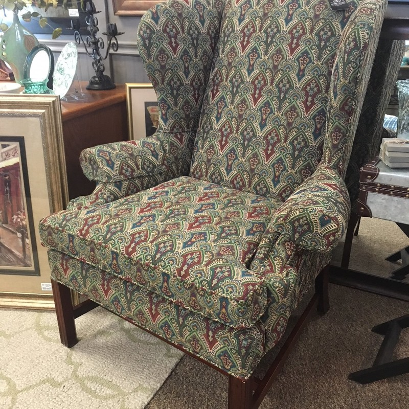 Very high quality custom built wingback chair.