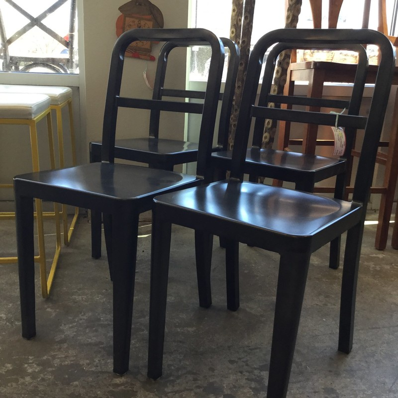 "Set of 8, Wayfair, Dining Room Chairs, Gray Metal, Size: 15"" X 5"" X 33"""