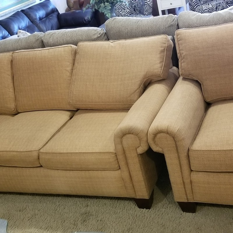 DREXEL SOFA AND CHAIR, None, Size: None