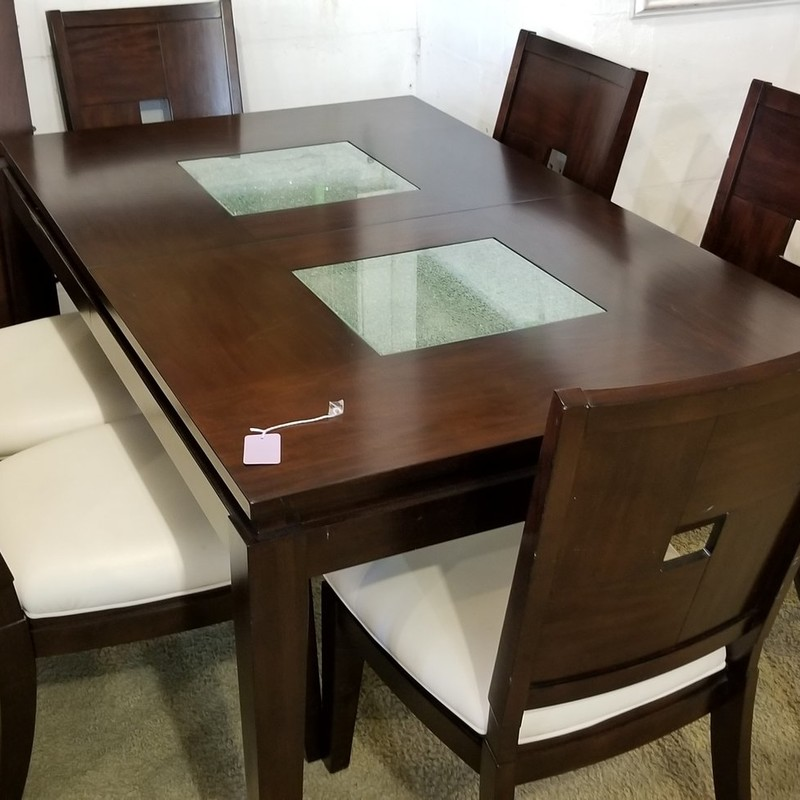 TABLE W/ 6 CHAIRS, None, Size: None