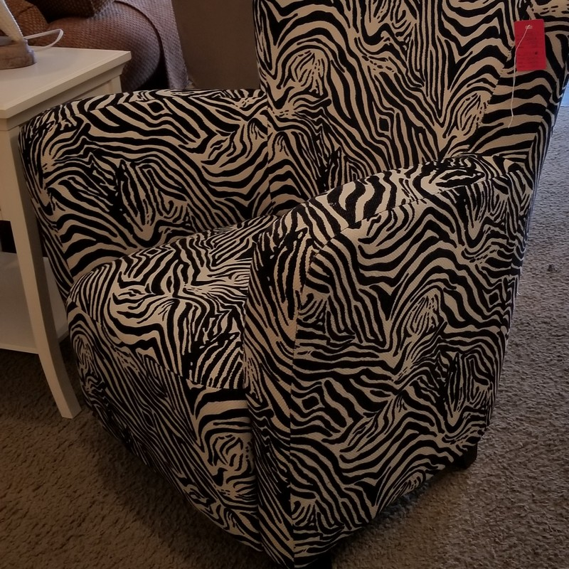 ZEBRA ACCENT CHAIR, None, Size: None