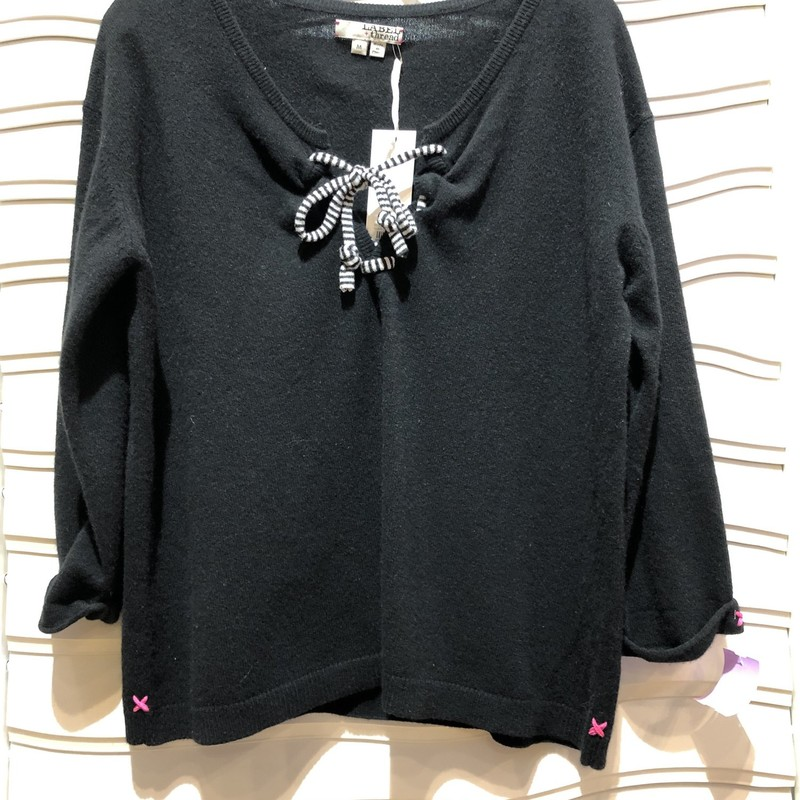 LABEL & THREAD SWEATER, BLACK, Size: Medium