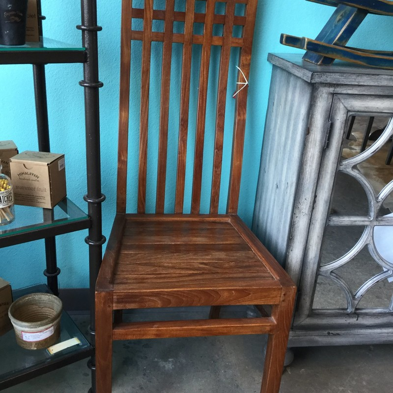 "Indonesian Chair, Wood, Size: 16"" X 18"" X 45"""