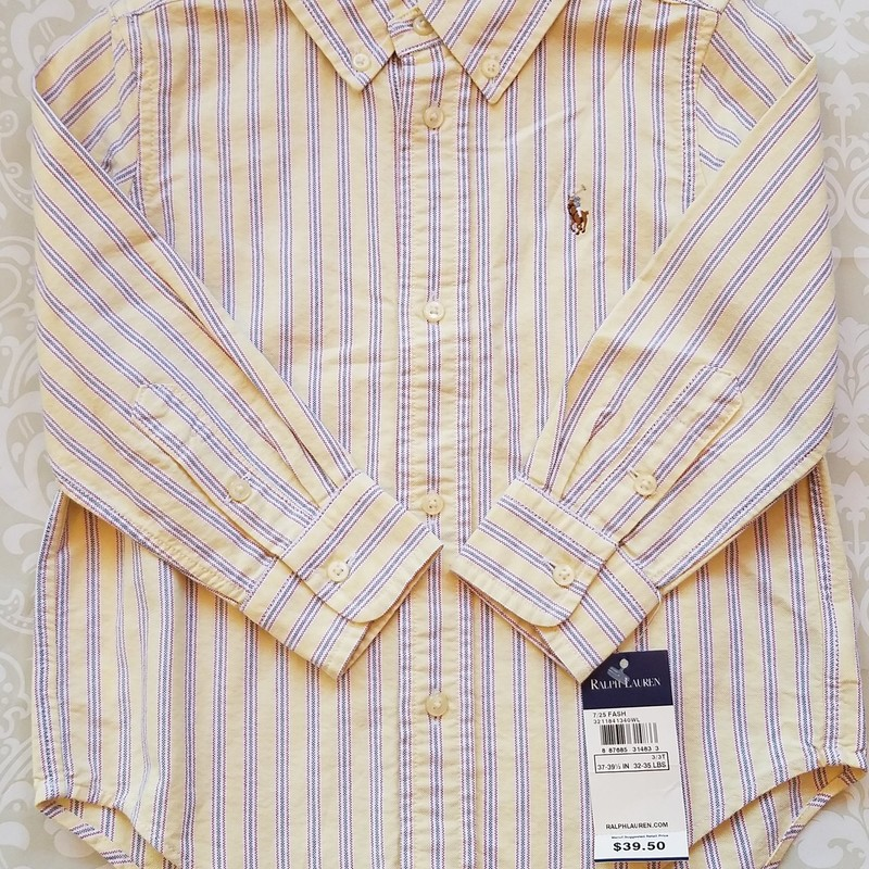 Ralph Lauren Oxford NEW, Yellow, Size: 3