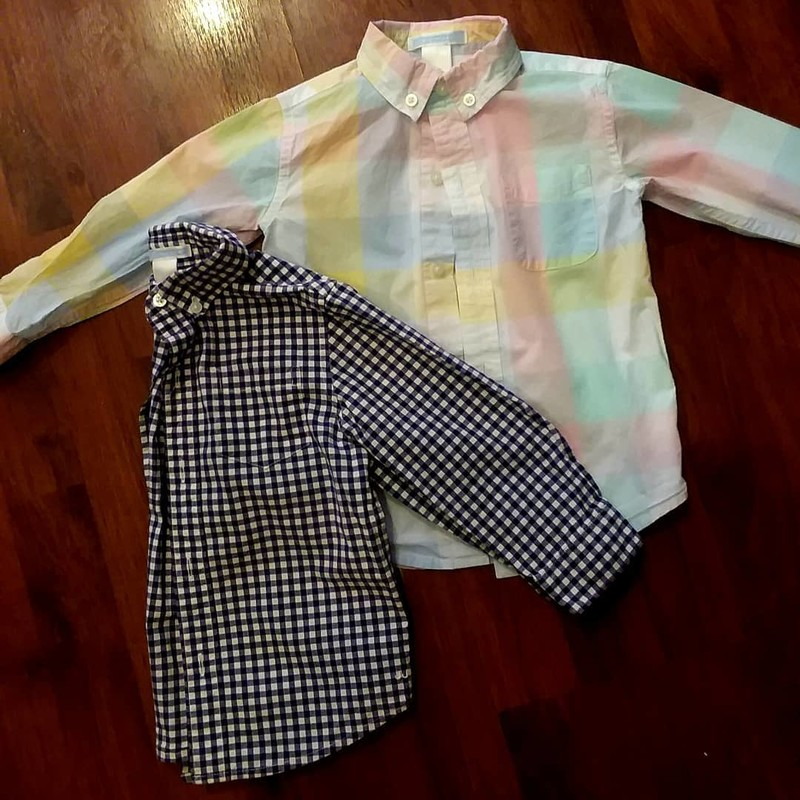 Janie & Jack - Oxford, Black & White, Size: 2<br /> Listing is for this shirt only.  The other shirt can be purchased separately.