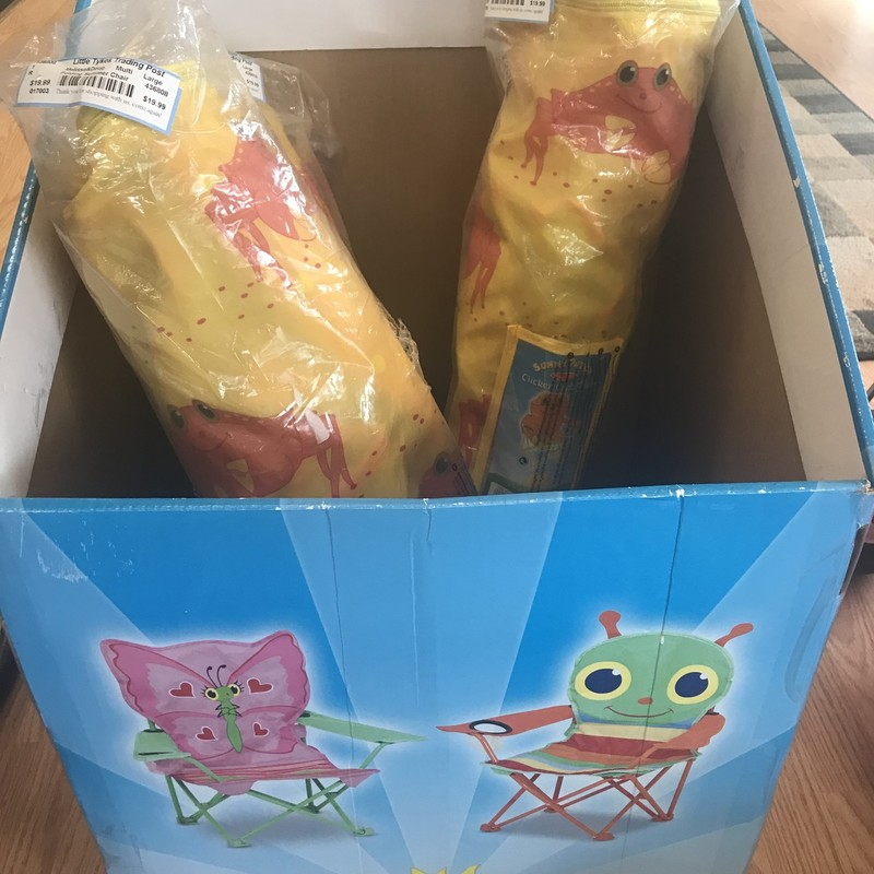 Melissa & Doug folding summer chair,NEW,  Yellow, have 3 in stock, call 720.870.7191 if interested in more