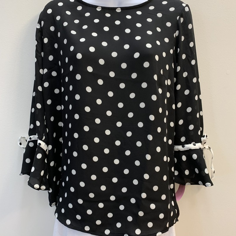 NEW Printemps Blouse<br /> Black & White Polka-Dot<br /> Size: Medium