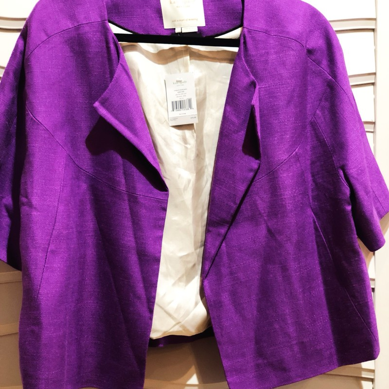 Kate Spade Jacket NWT, Purple, Size: 14<br /> $478 tags Attached!