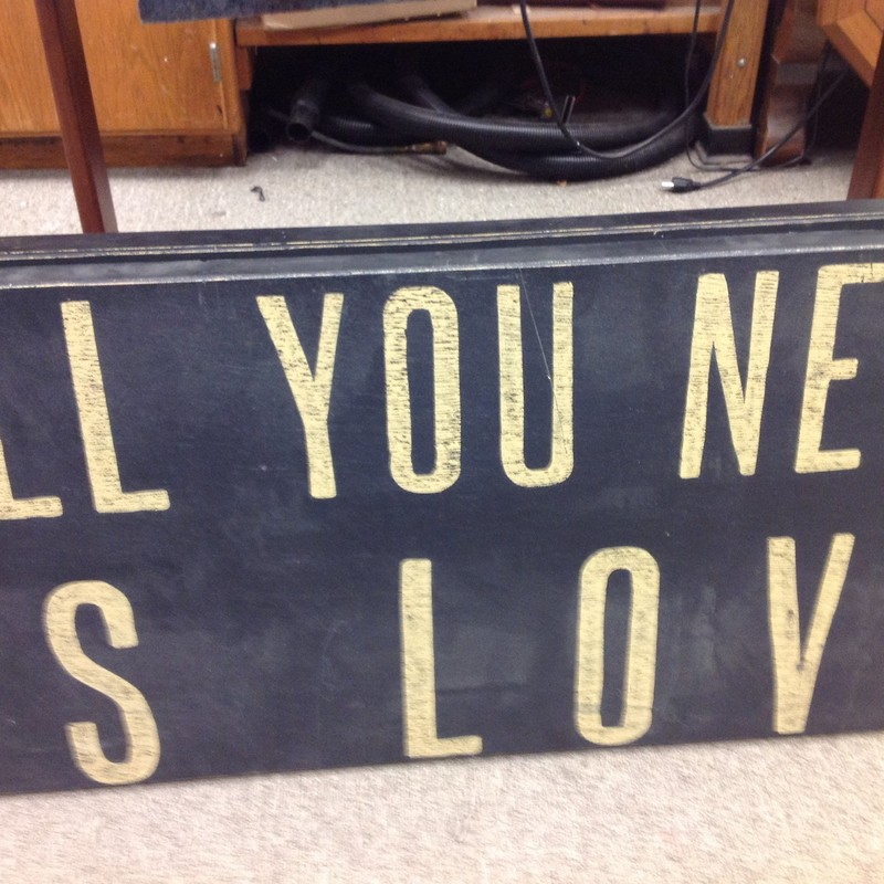 All You Need Is Love Wall, None, Size: 36x18