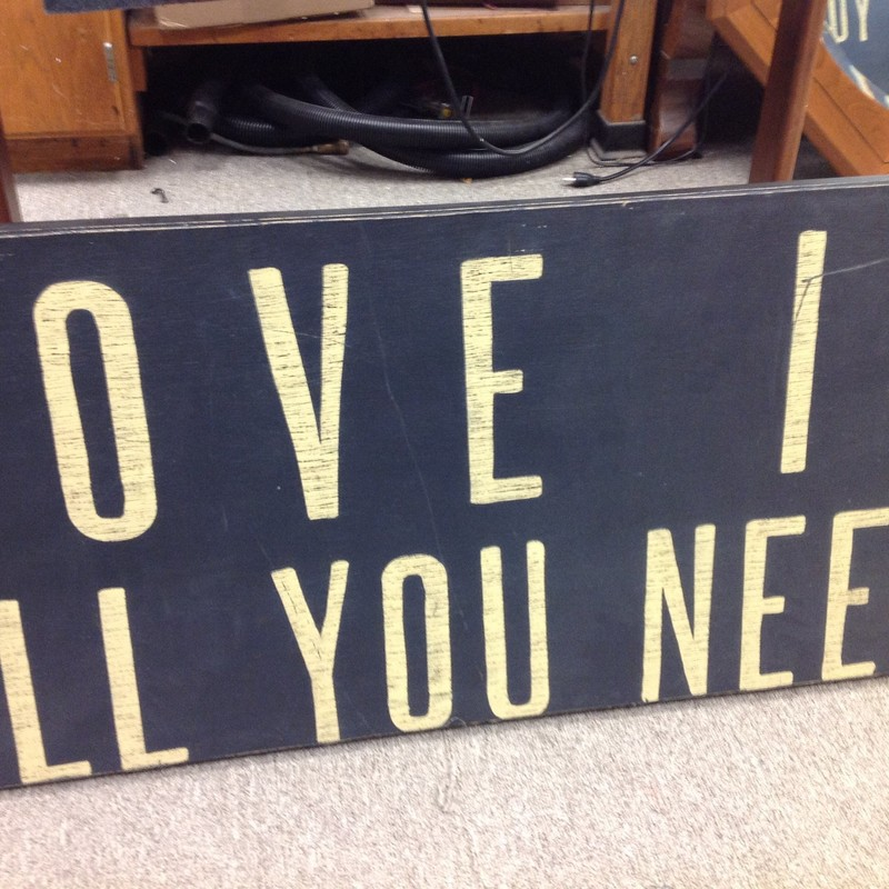 Love Is All You Need Is N, None, Size: 36x18