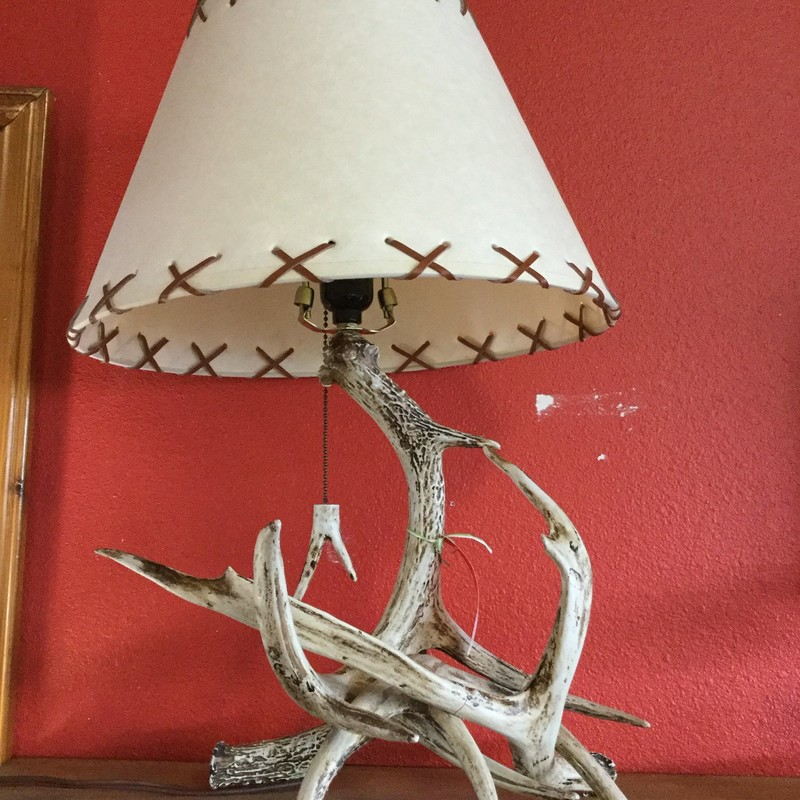 Faux Antler Lamp, Whipstic, Size: 21""