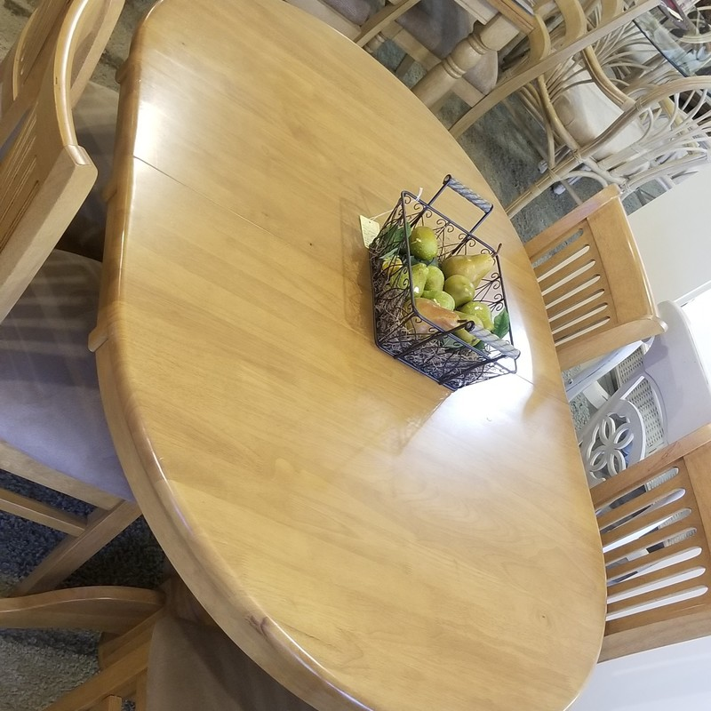 DINING TABLE W/ 5 CHAIRS, None, Size: None