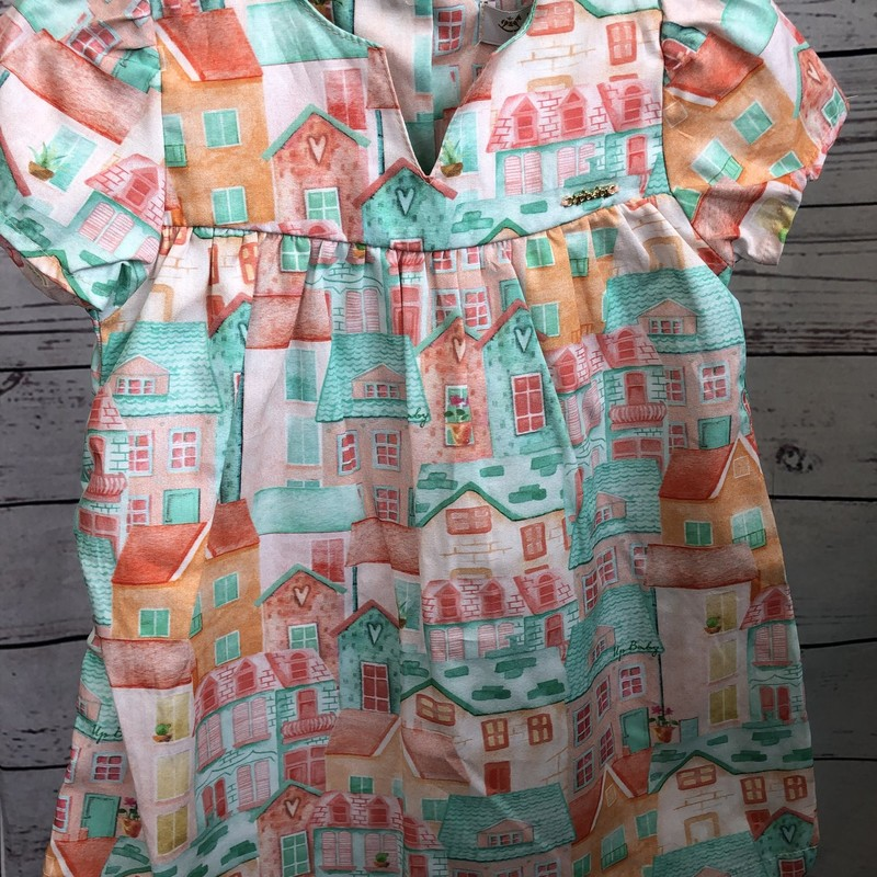 NEW UpBaby dress.  Check out how adorable the little houses are on this dress!  We are in love with this dress!