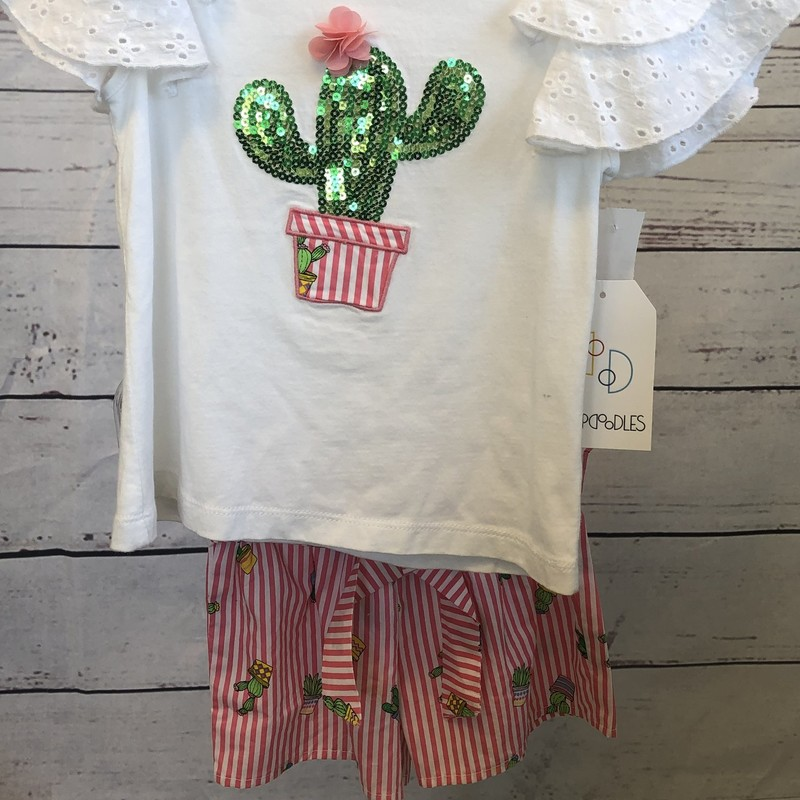NEW Flapdoodle 2 piece outfit.  The sequin cactus on the shirt matches the cacti on the shorts perfectly!  We love the colors in the shorts!!