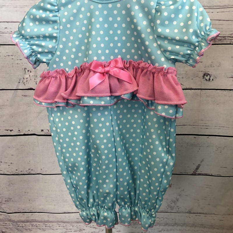 NEW Laura Dare short sleeve 1 piece pajamas. The ruffle around the middle is adorable!!
