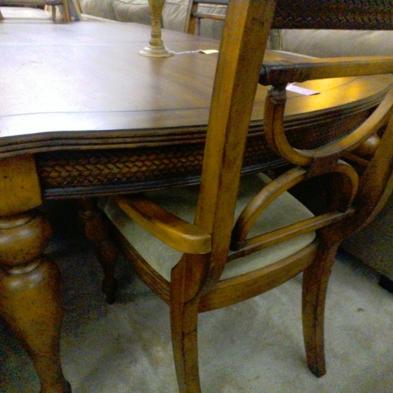 TABLE W/6 CHAIRS, None, Size: None