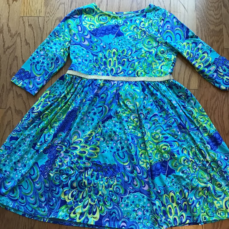 Lilly Pulitzer Dress, Lagoon, Size: 12-14<br /> <br /> <br /> <br /> ALL ONLINE SALES ARE FINAL. NO RETURNS OR EXCHANGES.