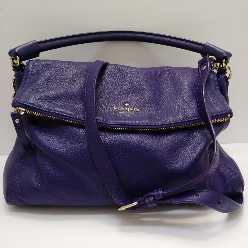 Kate Spade<br /> Cobble Hill Minka Bag<br /> Purple Leather