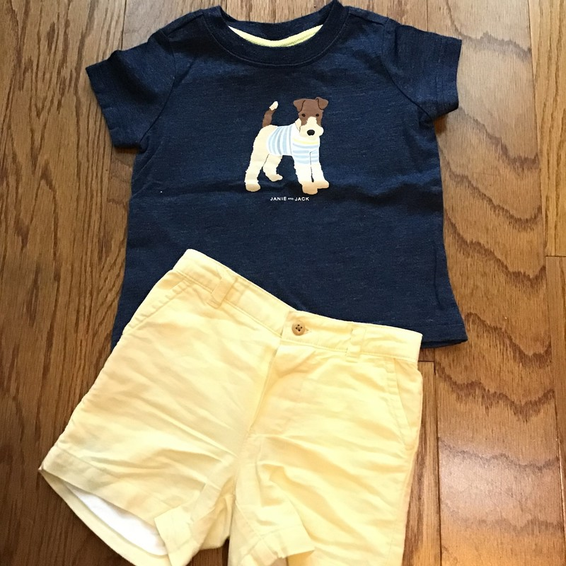 Janie Jack 2pc Outfit, Blue, Size: 3-6m<br /> <br /> <br /> <br /> ALL ONLINE SALES ARE FINAL. NO RETURNS OR EXCHANGES.