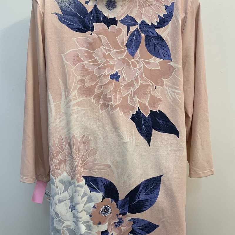 NEW Charter Club floral Top<br /> Blush & Navy<br /> Size: 2X