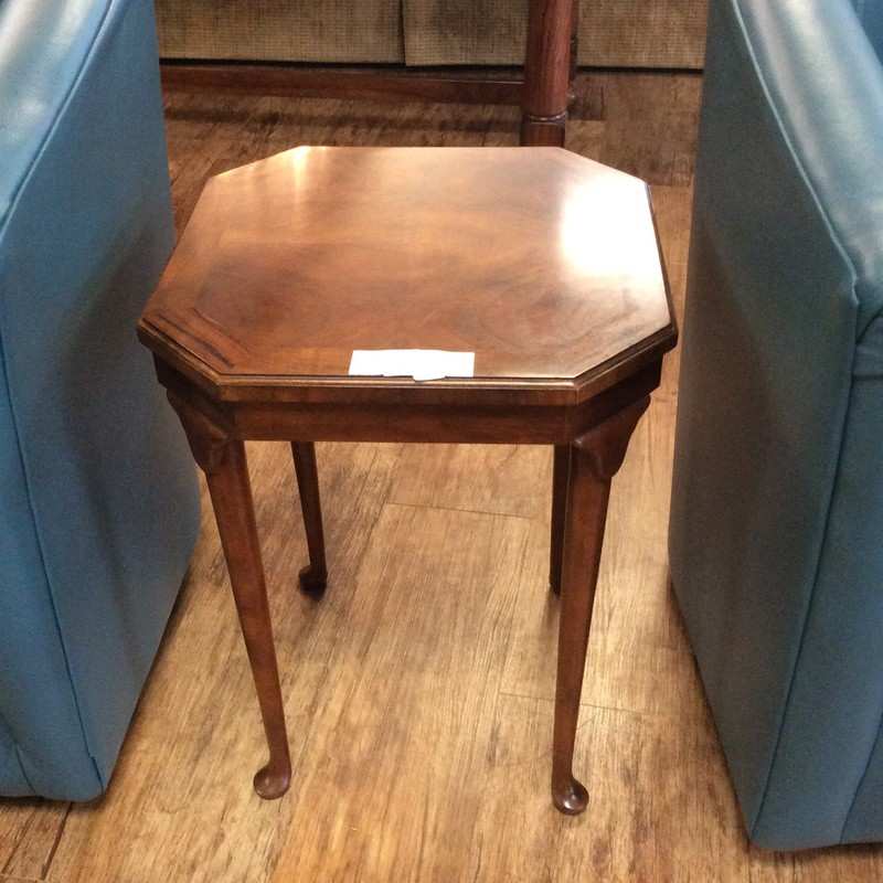 This little cutie is in impeccable condition. It is really small, so it can fit most anywhere. It features solid cherry construction and pretty tapered legs. It won't last here for long!