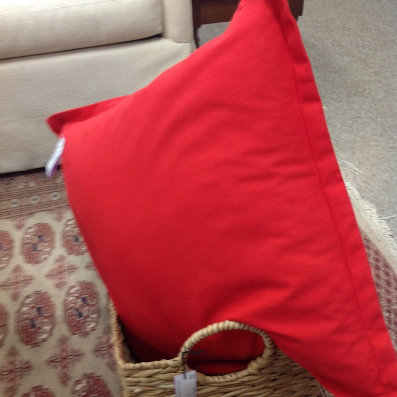 Indoor/Outdoor Pillow, Red, Size: 23 Inch
