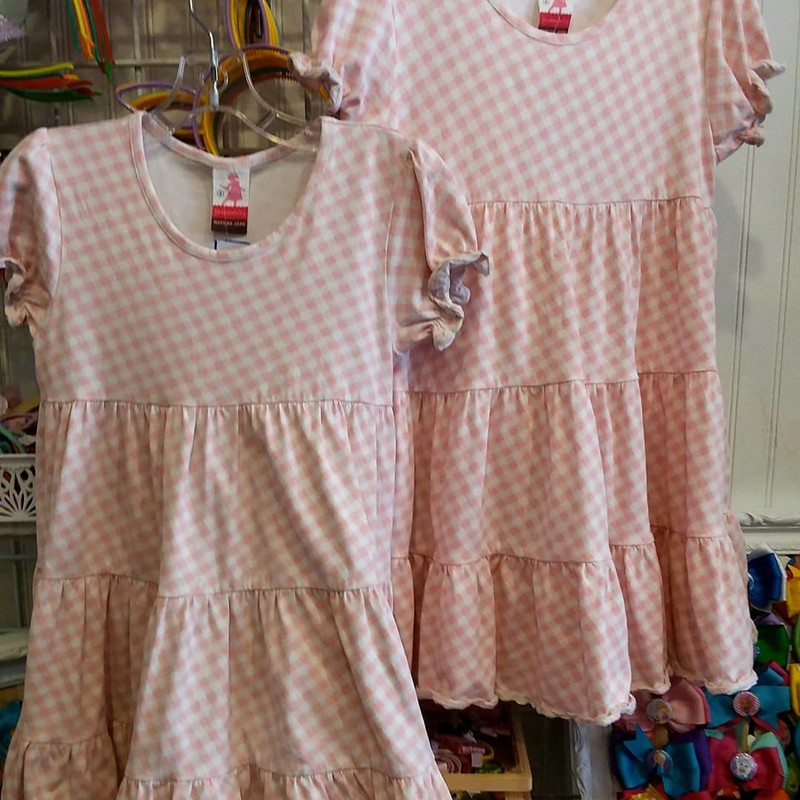 Matilda Jane Apple Pie Dress, Pink, Size: 4<br /> *Listing is only for 1 dress