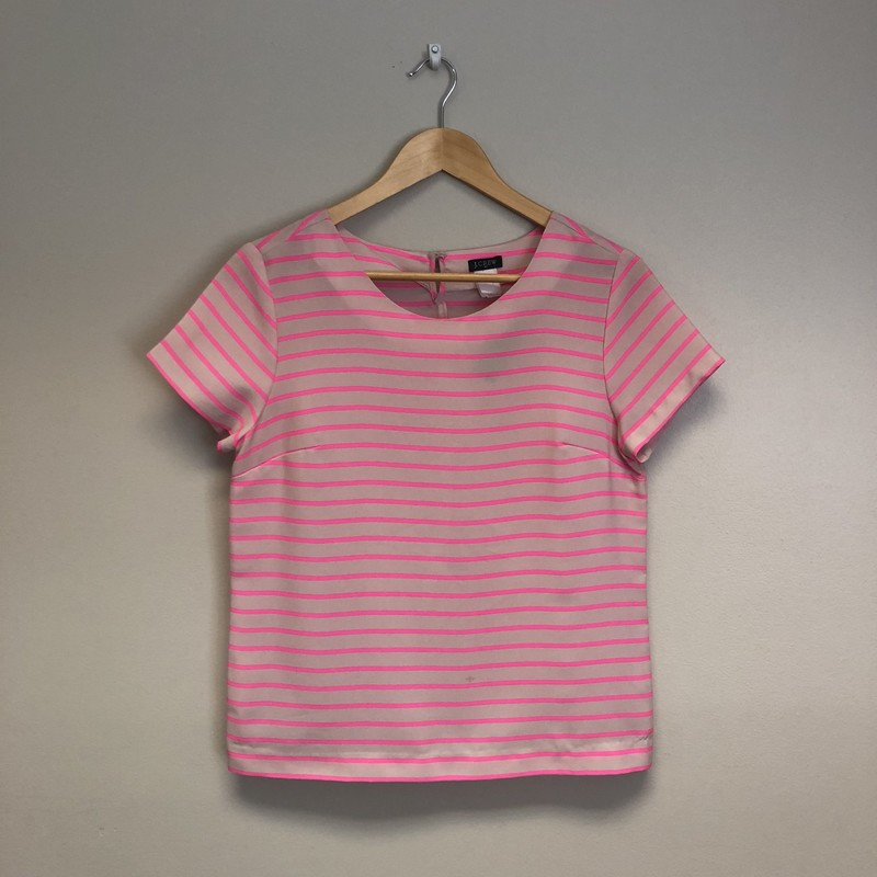 JCrew Stripes Short Sleeves<br /> Size XS<br /> Pink/Blush<br /> $11.50