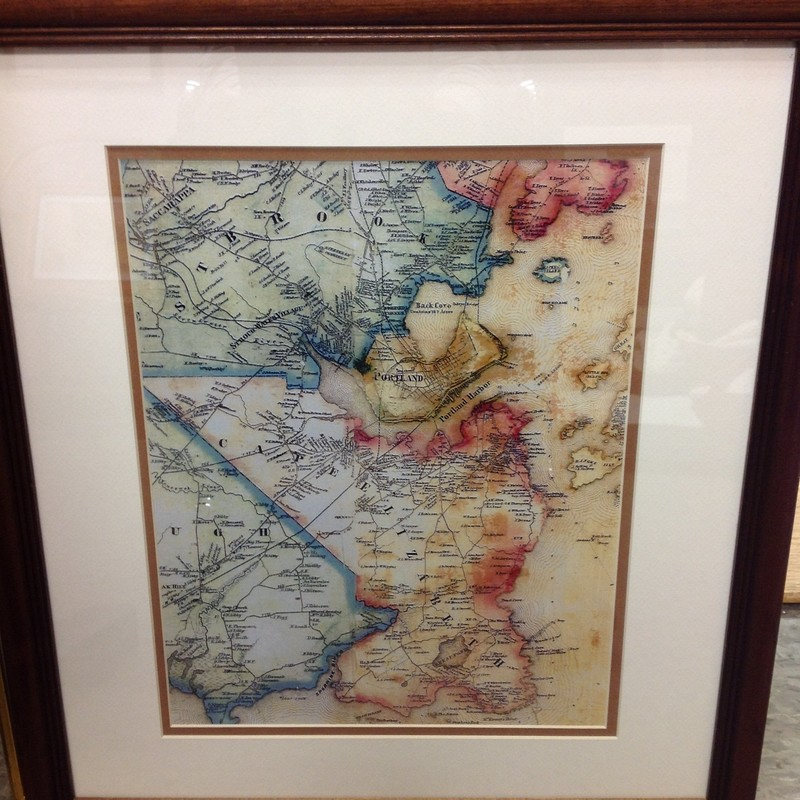 Map Of Cape Elizabeth, Brown, Size: 18x20