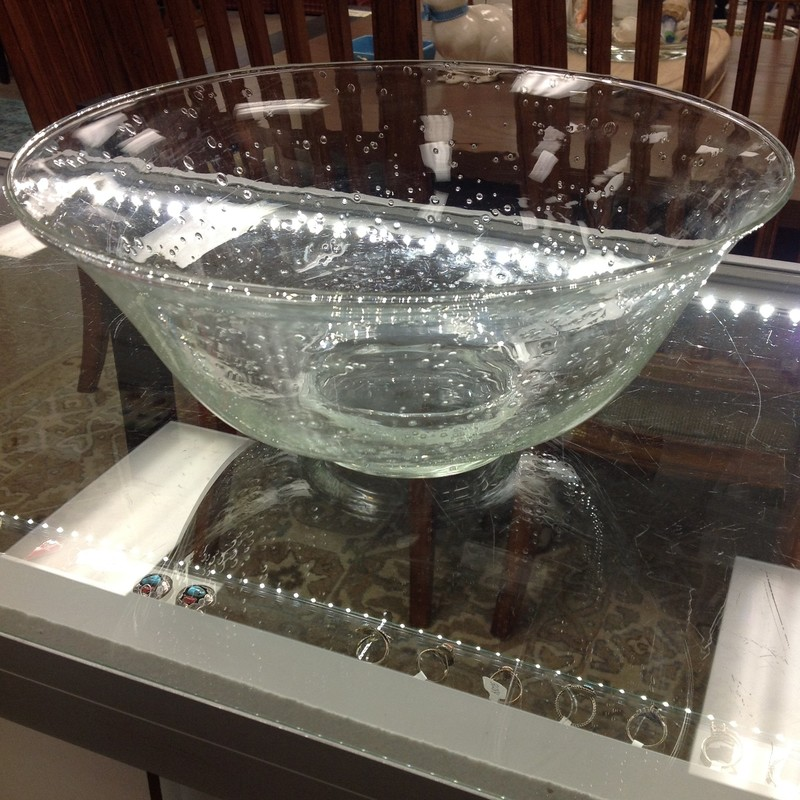 Footed Seed Glass Bowl, None, Size: 12x6