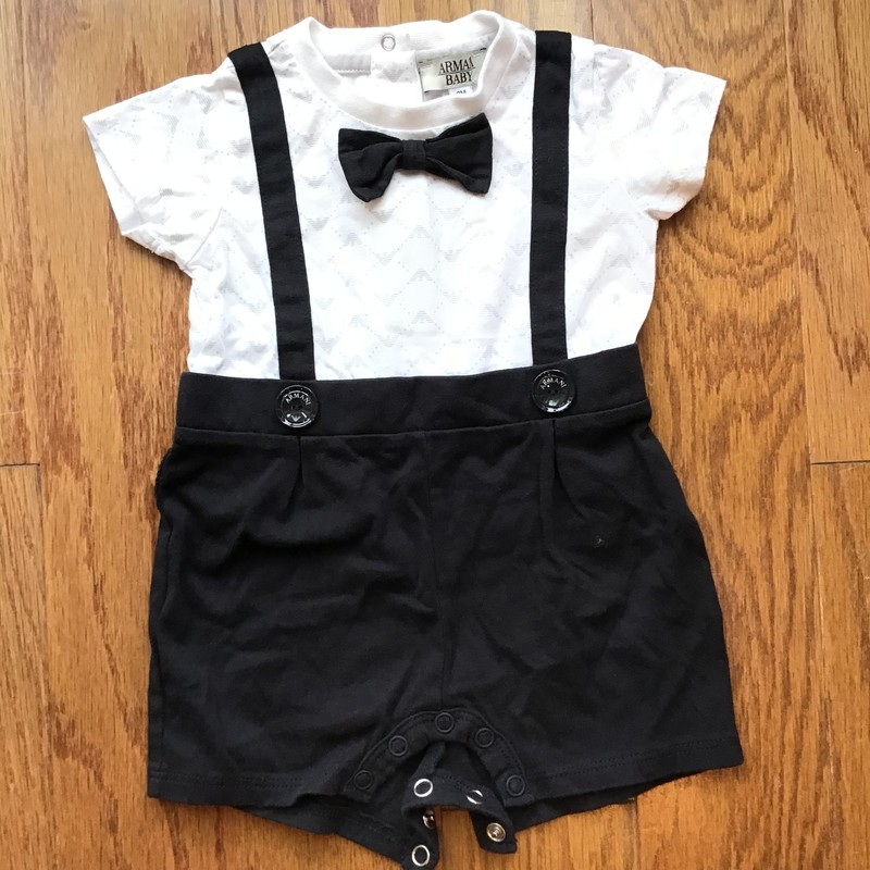 Armani Baby Outfit, Black, Size: 3m<br /> <br /> <br /> <br /> ALL ONLINE SALES ARE FINAL. NO RETURNS OR EXCHANGES.