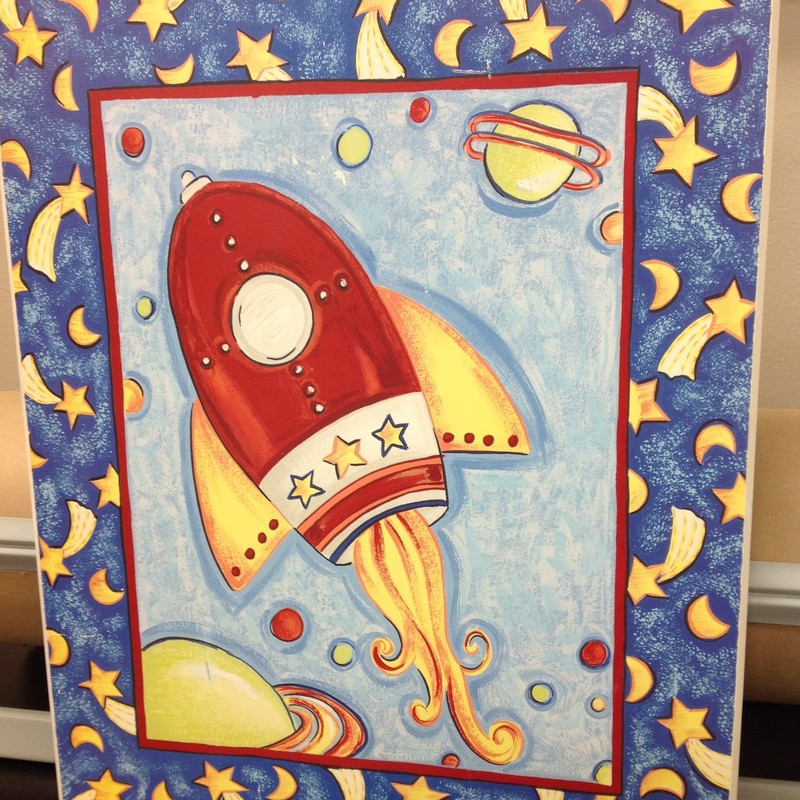 Rocket Plaque, None, Size: 20x16