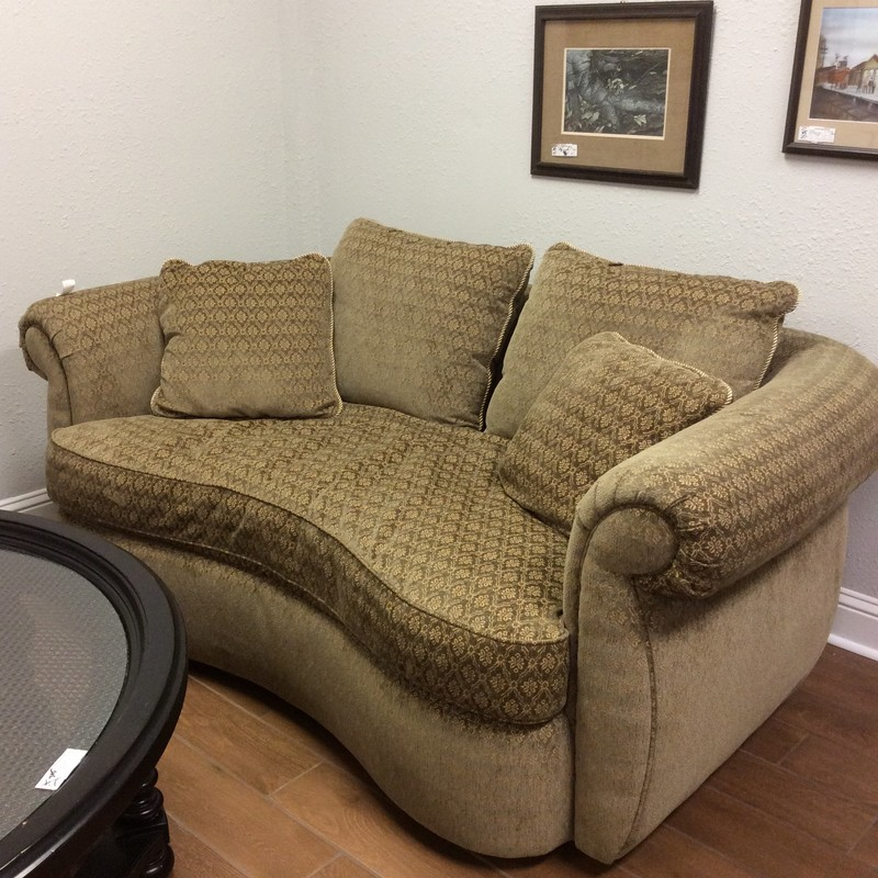 We just marked this sofa, as well as it's twin, down to We just marked this sofa, as well as it's twin, down $100 to $395! Sweeeet!<br /> <br /> This diminutive little sofa by Flair, which is a division of Bernhardt  is unique and beautiful. Best of all, we have 2 of them!