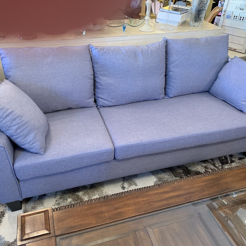 Couch + Ottoman<br /> Color: Blue