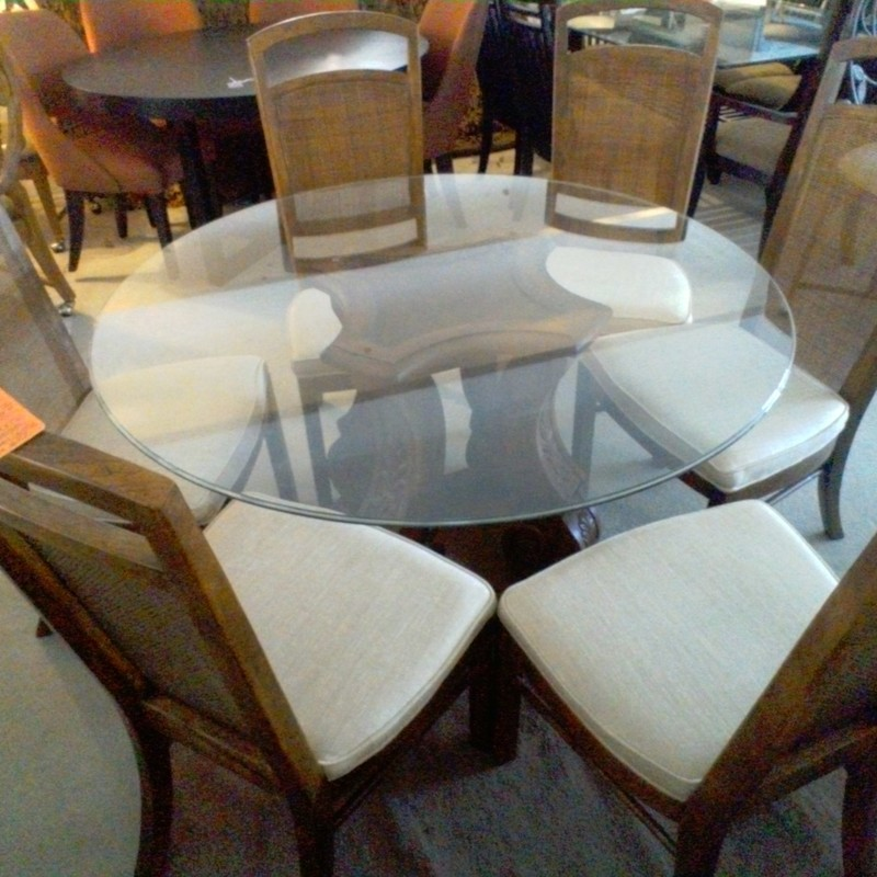 DREXAL DINING TABLE /6 CH, None, Size: None