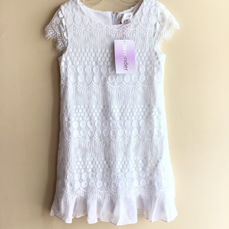 Lavender Dress NEW, White, Size: 12<br /> <br /> <br /> BRAND NEW WITH TAG<br /> <br /> <br /> ALL ONLINE SALES ARE FINAL. NO RETURNS OR EXCHANGES.